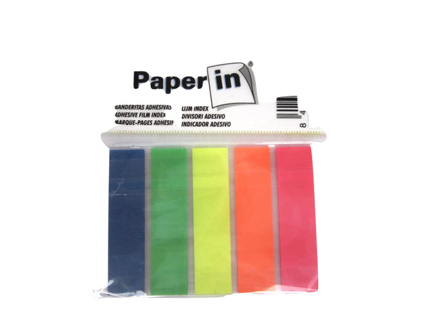 Paper In Plastic Flag Markers x5 colours