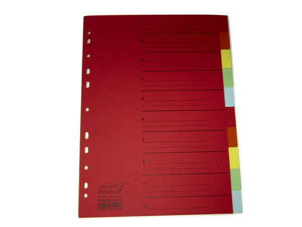Carton Dividers / Separators x10 coloured tabs (Quantus)