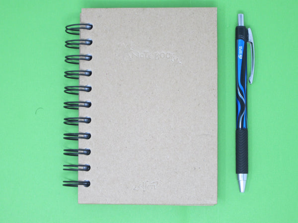 SPECIAL OFFER - Recycled Paper Notebook (60 x 110mm) with 1 Ball Point Pen