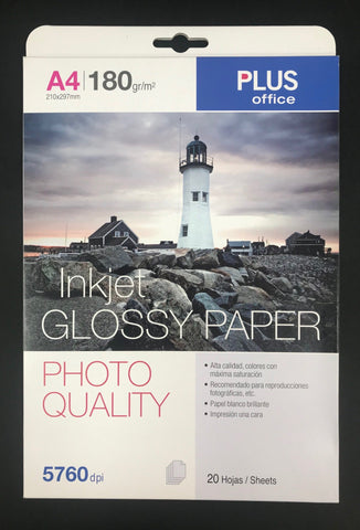 Photo Quality Inkjet Paper A4 180gsm