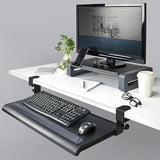 Desk Clamp Keyboard Tray with Gel Wrist Pad