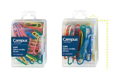 Paper Clips Coloured Box (x2 sizes) (Campus)
