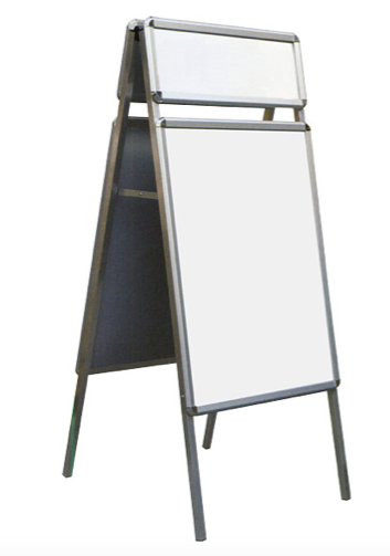 Whiteboard Double Sided - 90 x 60 cms with aluminium frame