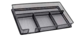 Desk Organiser Tray - Mesh Metal - Black
