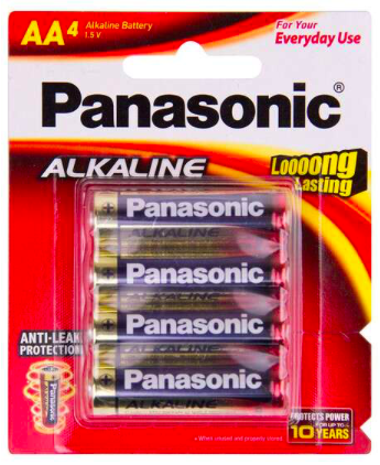 Batteries - AA - Panasonic Alkaline (Pack of 4)