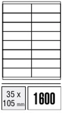 Computer Labels - 35 x 105mm (Packet x100 sheets)