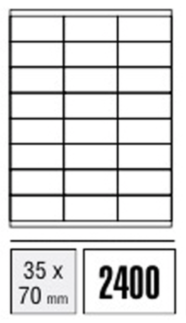 Computer Labels - 35 x 70mm (Packet x100 sheets)