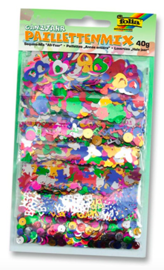 Sequins Mix - All Year - 40g (Folia)