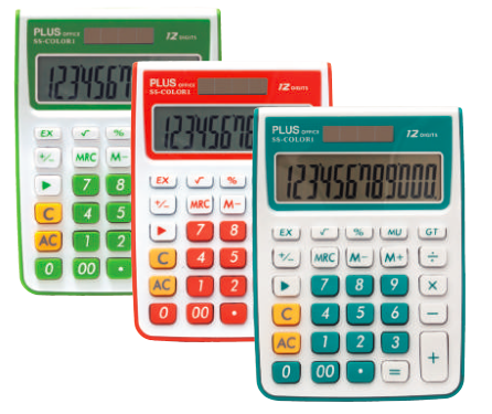 Calculator - 12 Digits (x3 Colours) (Plus Office SS-COLOR 1)
