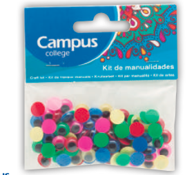 Campus Crafts - Wiggle Eyes Coloured - 10mm (Packet of 100 pcs.)