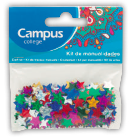 Campus Crafts - Stars Coloured - (Packet of 14g)