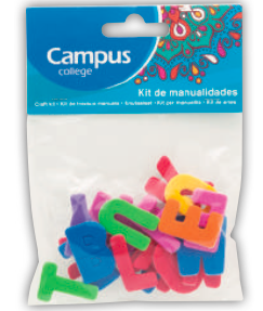 Campus Crafts - Letters - (Packet of 20 pieces)