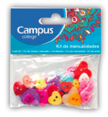 Campus Crafts - Heart Buttons - (Packet of 40 pieces)