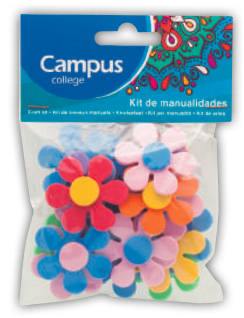 Campus Crafts - Flowers - (Packet of 20 pieces)