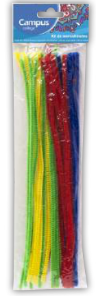 Campus Crafts - Pipe Cleaners (Chenilles) - Assorted Colours - (Packet of 30 pieces)