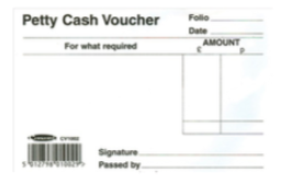 Petty Cash Voucher Book