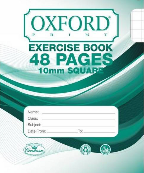 Exercise Book - Squared (1cm / 10mm)- 48 Pages
