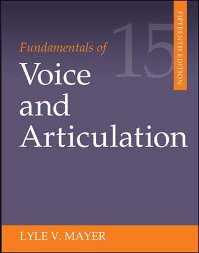 Fundamentals of Voice and Articulation, Paperback, 15 Edition by Mayer, Lyle