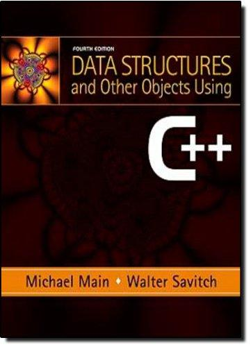 Data Structures and Other Objects Using C++ (4th Edition), Paperback, 4 Edition by Main, Michael