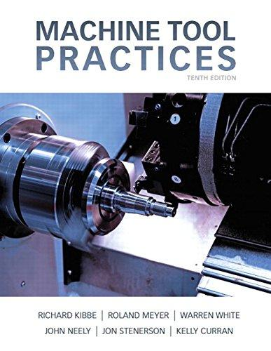 Machine Tool Practices (10th Edition), Hardcover, 10 Edition by Kibbe, Richard R.