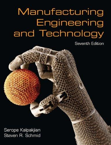 Manufacturing Engineering & Technology (7th Edition), Hardcover, 7 Edition by Kalpakjian, Serope
