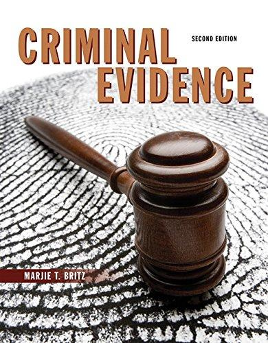 Criminal Evidence (2nd Edition), Paperback, 2 Edition by Britz, Marjie T.