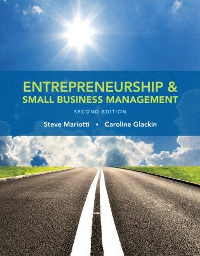 Entrepreneurship and Small Business Management (2nd Edition), Paperback, 2 Edition by Mariotti, Steve
