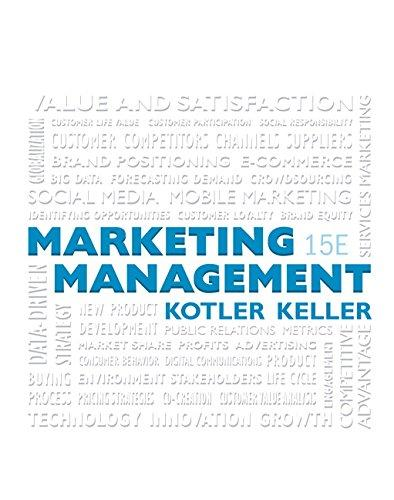 Marketing Management (15th Edition), Hardcover, 15 Edition by Kotler, Philip