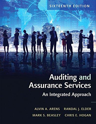 Auditing and Assurance Services (16th Edition), Hardcover, 16 Edition by Arens, Alvin A.