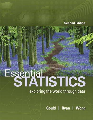 Essential Statistics (2nd Edition), Paperback, 2 Edition by Gould, Robert