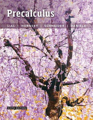 Precalculus (6th Edition), Hardcover, 6 Edition by Lial, Margaret L.