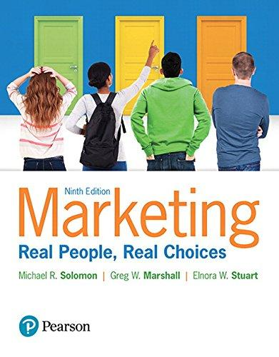 Marketing: Real People, Real Choices (9th Edition), Paperback, 9 Edition by Solomon, Michael