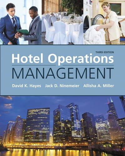 Hotel Operations Management (3rd Edition), Hardcover, 3 Edition by Hayes, David K.