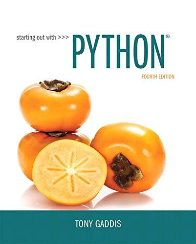 Starting Out with Python (4th Edition), Paperback, 4 Edition by Gaddis, Tony