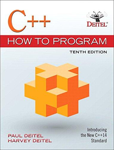 C++ How to Program (10th Edition), Paperback, 10 Edition by Deitel, Paul J.