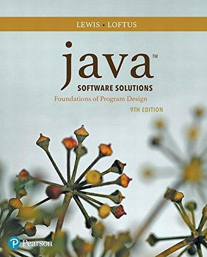 Java Software Solutions (9th Edition), Paperback, 9 Edition by Lewis, John