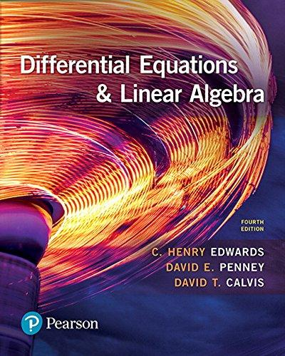 Differential Equations and Linear Algebra (4th Edition), Hardcover, 4 Edition by Edwards, C. Henry