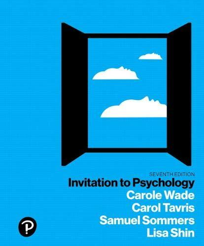 Invitation to Psychology (7th Edition), Paperback, 7 Edition by Wade, Carole