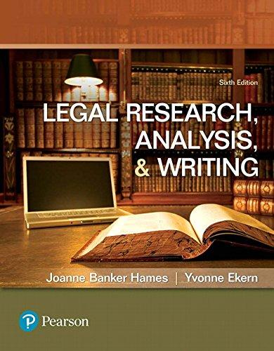 Legal Research, Analysis, and Writing (6th Edition), Paperback, 6 Edition by Hames, Joanne B.