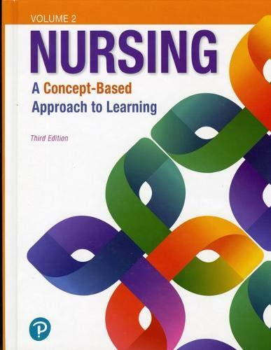 Nursing: A Concept-Based Approach to Learning, Volume II (3rd Edition), Hardcover, 3 Edition by Pearson Education