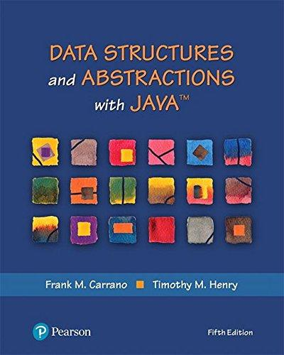 Data Structures and Abstractions with Java (5th Edition) (What's New in Computer Science), Hardcover, 5 Edition by Carrano, Frank M.