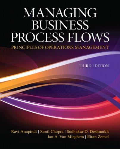 Managing Business Process Flows (3rd Edition), Paperback, 3 Edition by Anupindi, Ravi