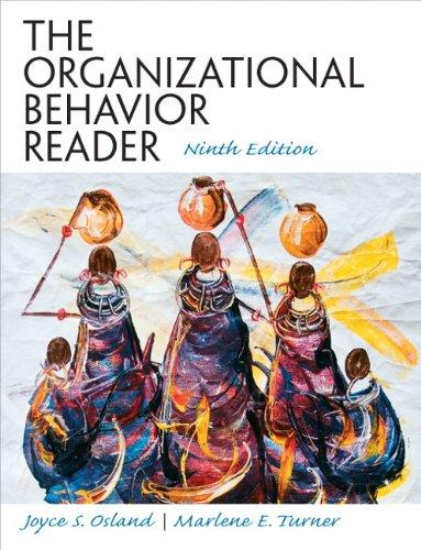 The Organizational Behavior Reader (9th Edition), Paperback, 9 Edition by Joyce S Osland