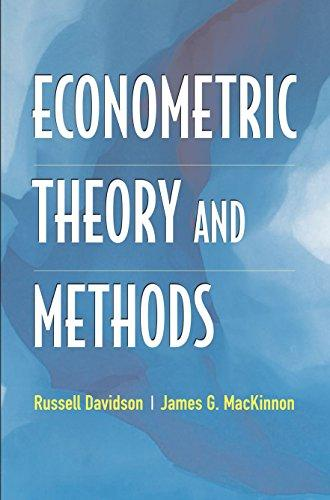 Econometric Theory and Methods, Hardcover by Davidson, Russell