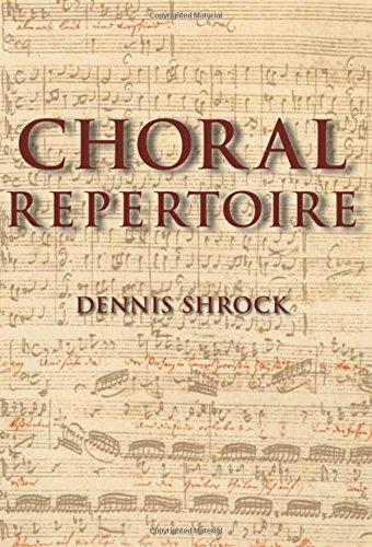 Choral Repertoire, Hardcover, 1 Edition by Shrock, Dennis