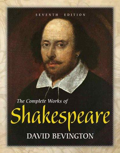 The Complete Works of Shakespeare (7th Edition), Hardcover, 7 Edition by Bevington, David