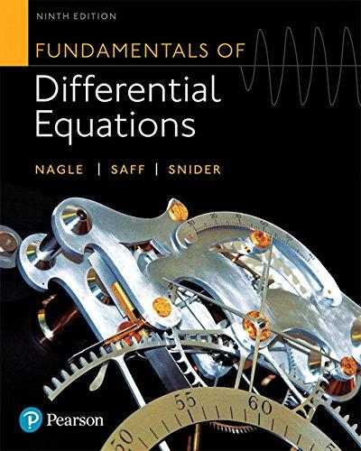 Fundamentals of Differential Equations (9th Edition), Hardcover, 9 Edition by Nagle, R. Kent
