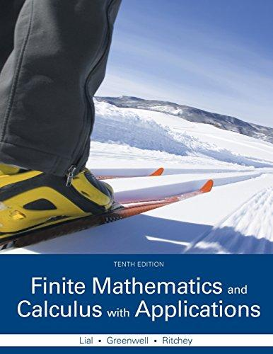 Finite Mathematics and Calculus with Applications (10th Edition), Hardcover, 10 Edition by Lial, Margaret L.