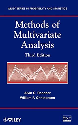 Methods of Multivariate Analysis, Hardcover, 3 Edition by Rencher, Alvin C.