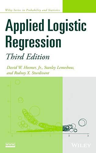Applied Logistic Regression, Hardcover, 3 Edition by Hosmer Jr., David W.
